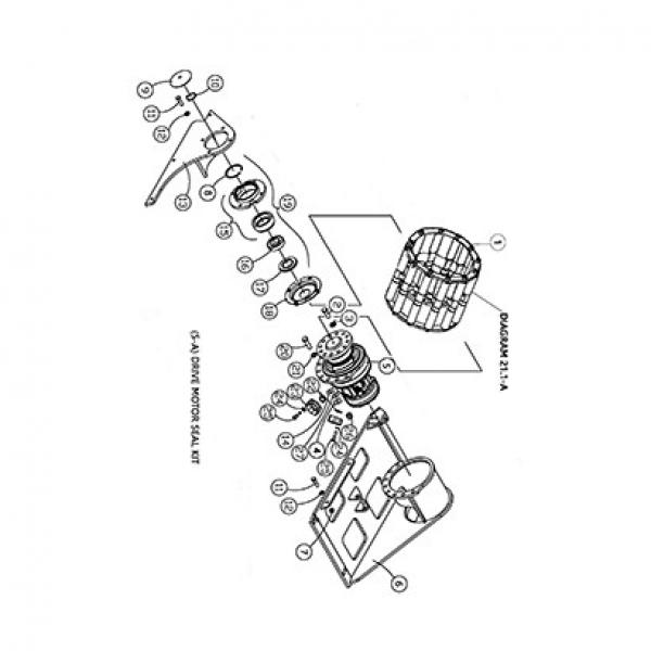 ASV RC50 SN 699+ Reman Hydraulic Final Drive Motor #2 image