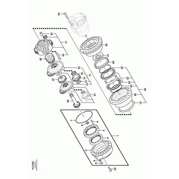 Kato 1250 Hyaraulic Final Drive Motor #1 image